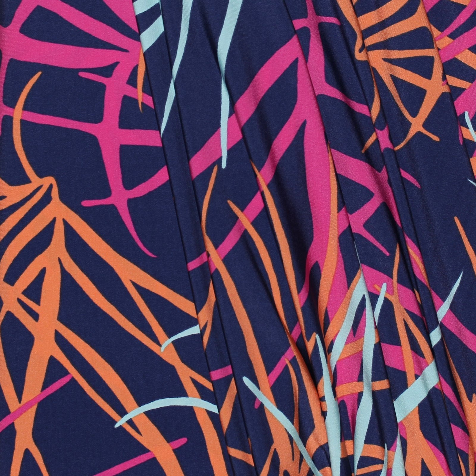 Navy/Pink/Creamsicle Abstract Print ITY Knit