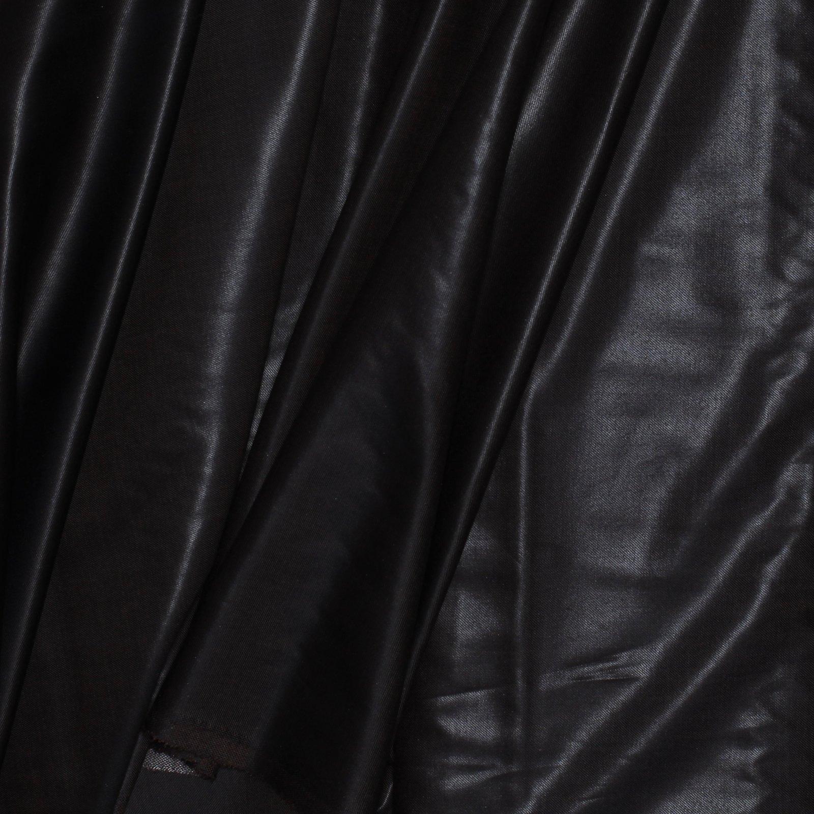 Chocolate Brown w/Black Crossweave Waxed Canvas Look Italian Wool