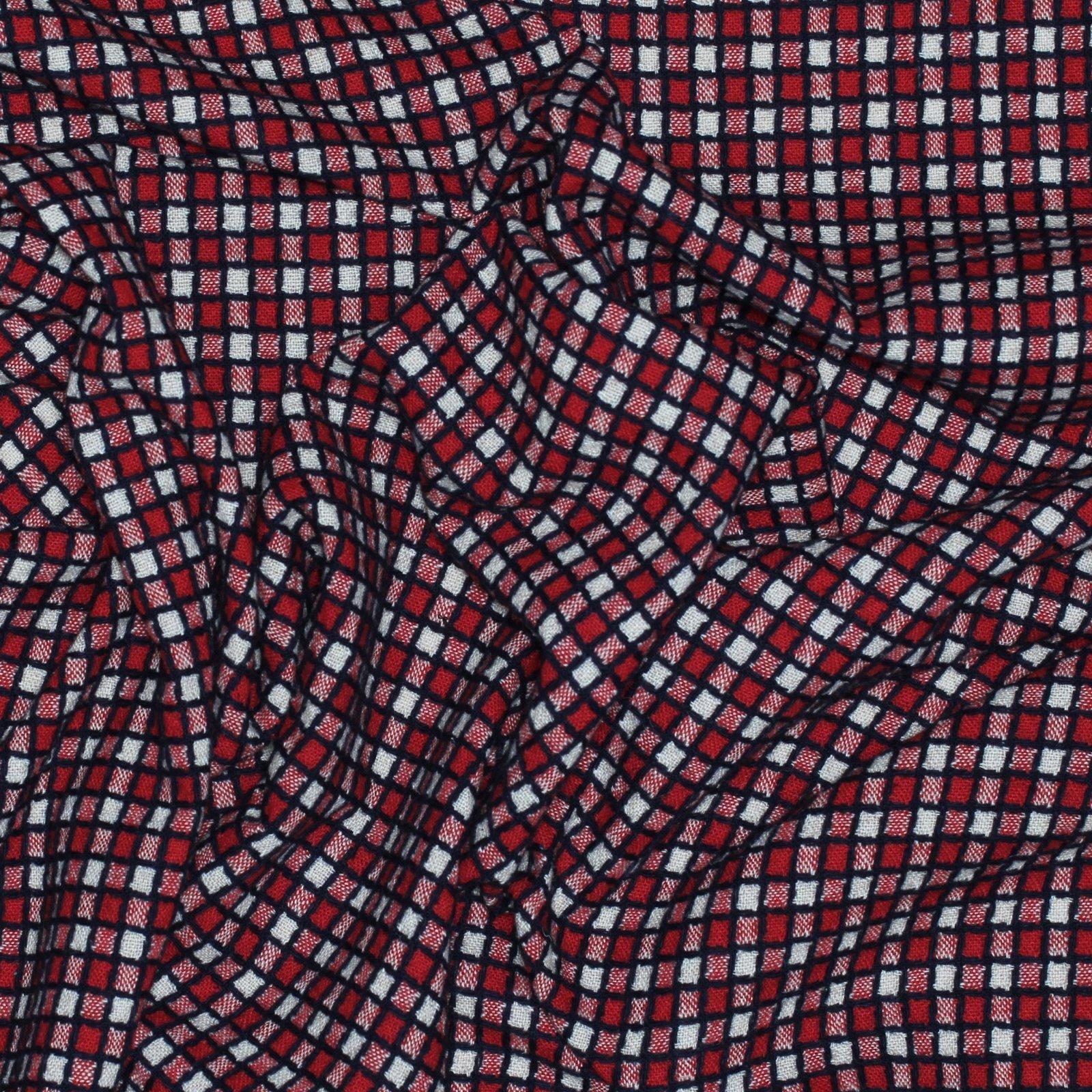 Hokkoh Japanese Wool Tweed Red/Navy/White Check