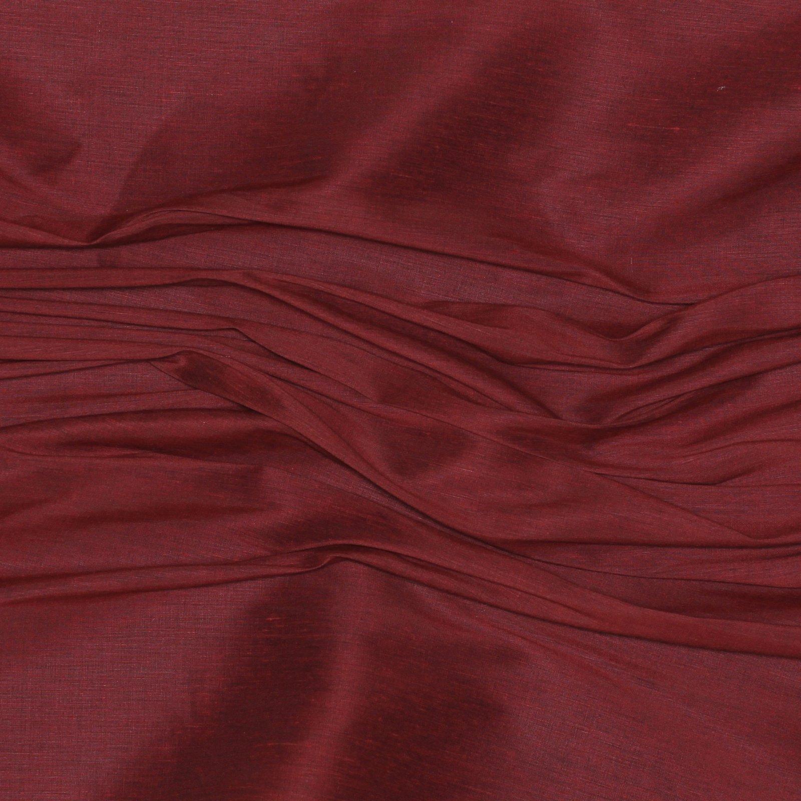 Red Silk/Linen Blend