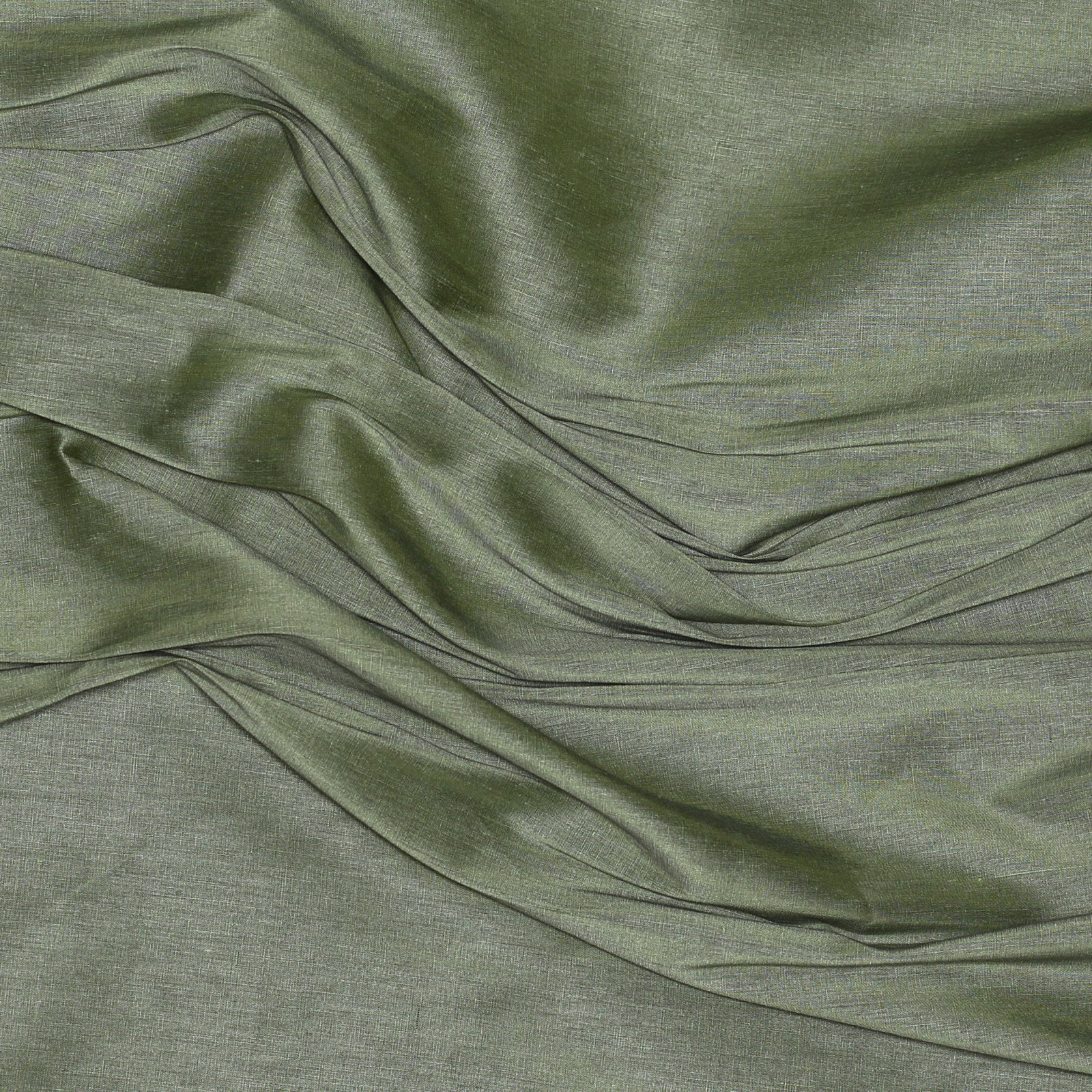 Green Silk/Linen Blend