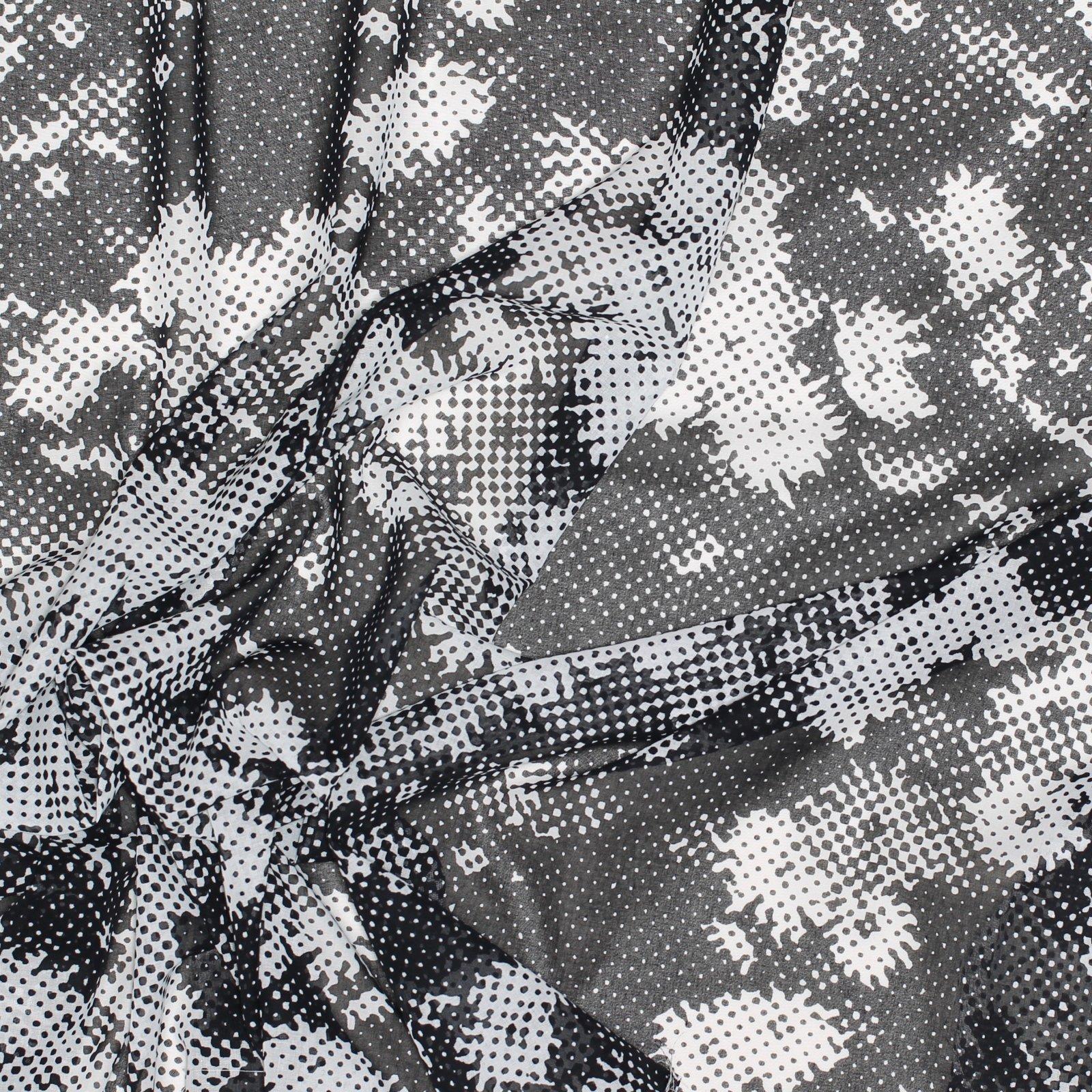 Black/White Abstract Print Italian Cotton