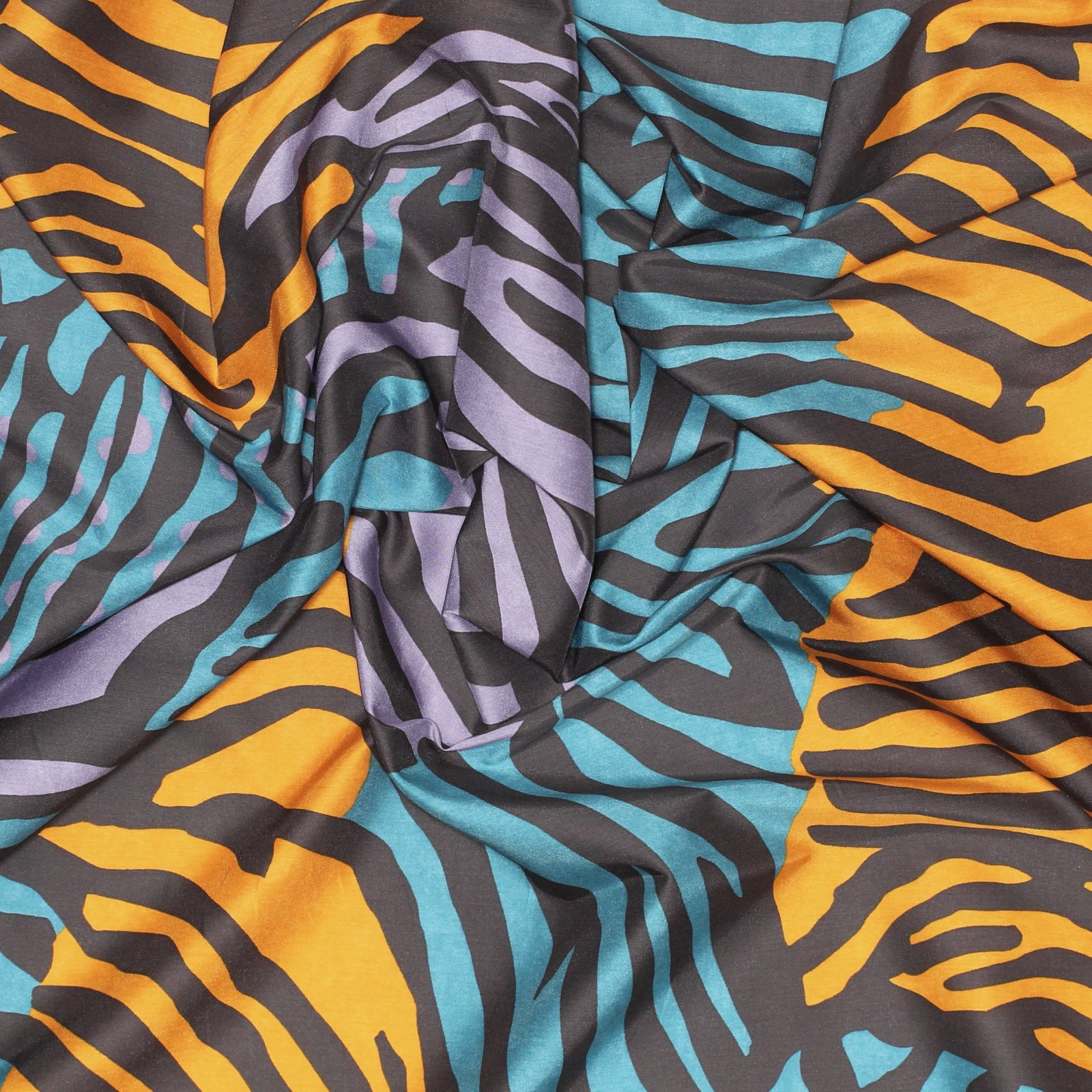 Wild Safari Print Italian Silk/Cotton Blend
