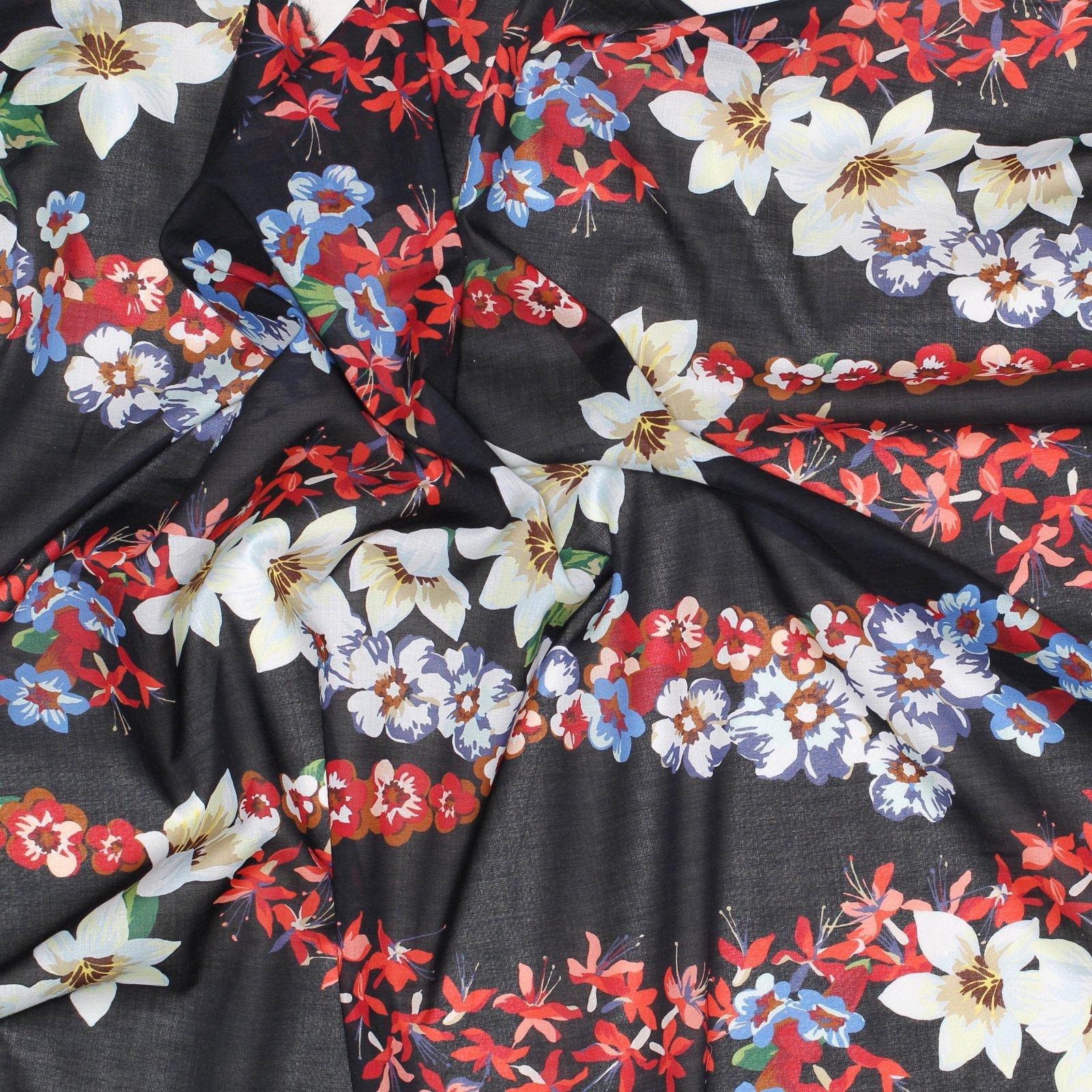 Black w/Bold Floral G^cci Italian Cotton