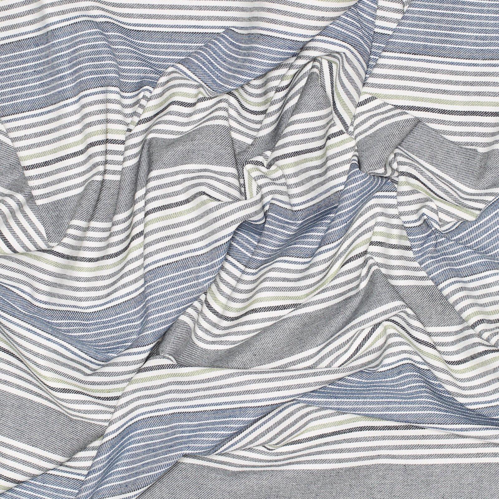 Striped Italian Denim Cool Tones