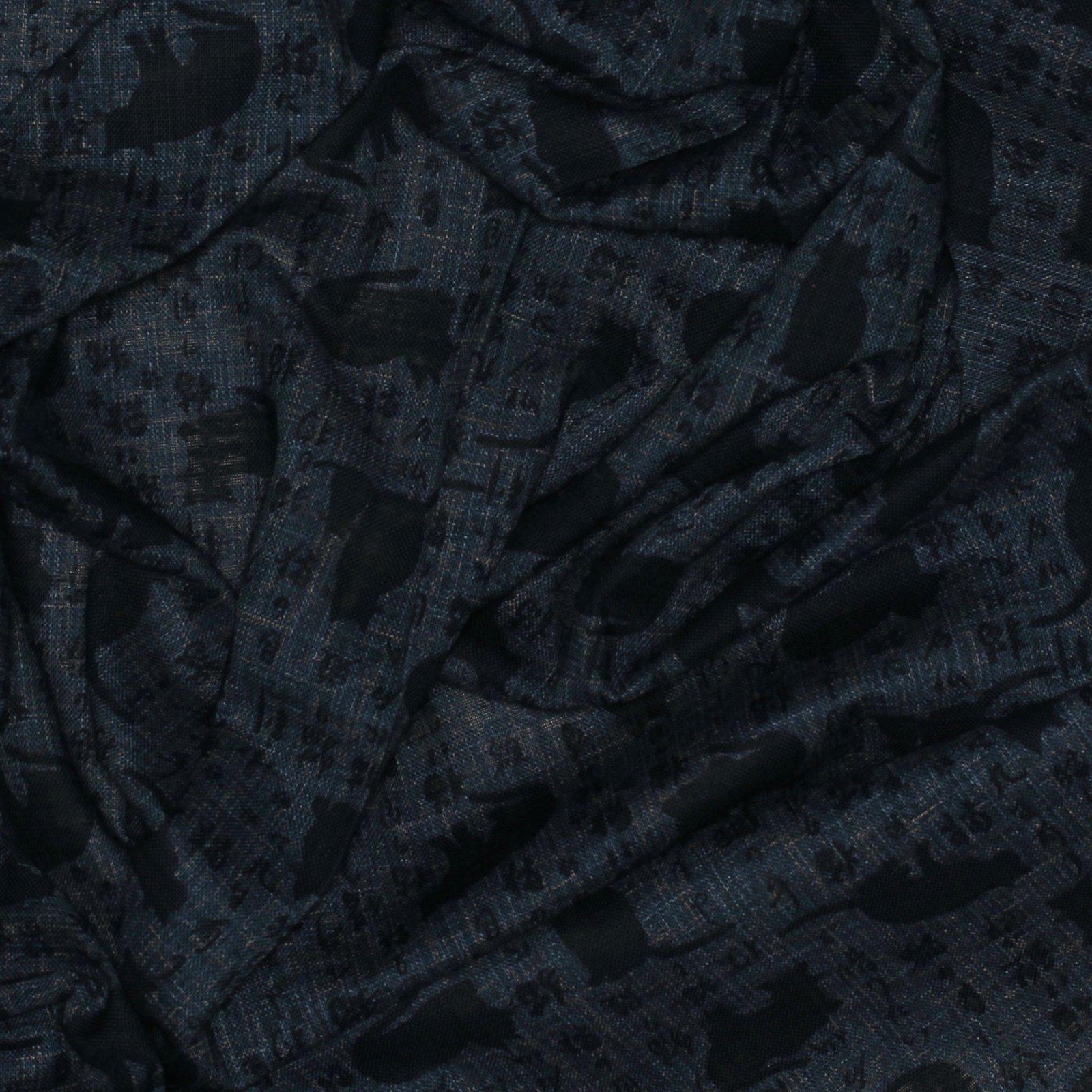 Cat Silhouette on Blue; Japanese Cotton; 100% COTTON - 45