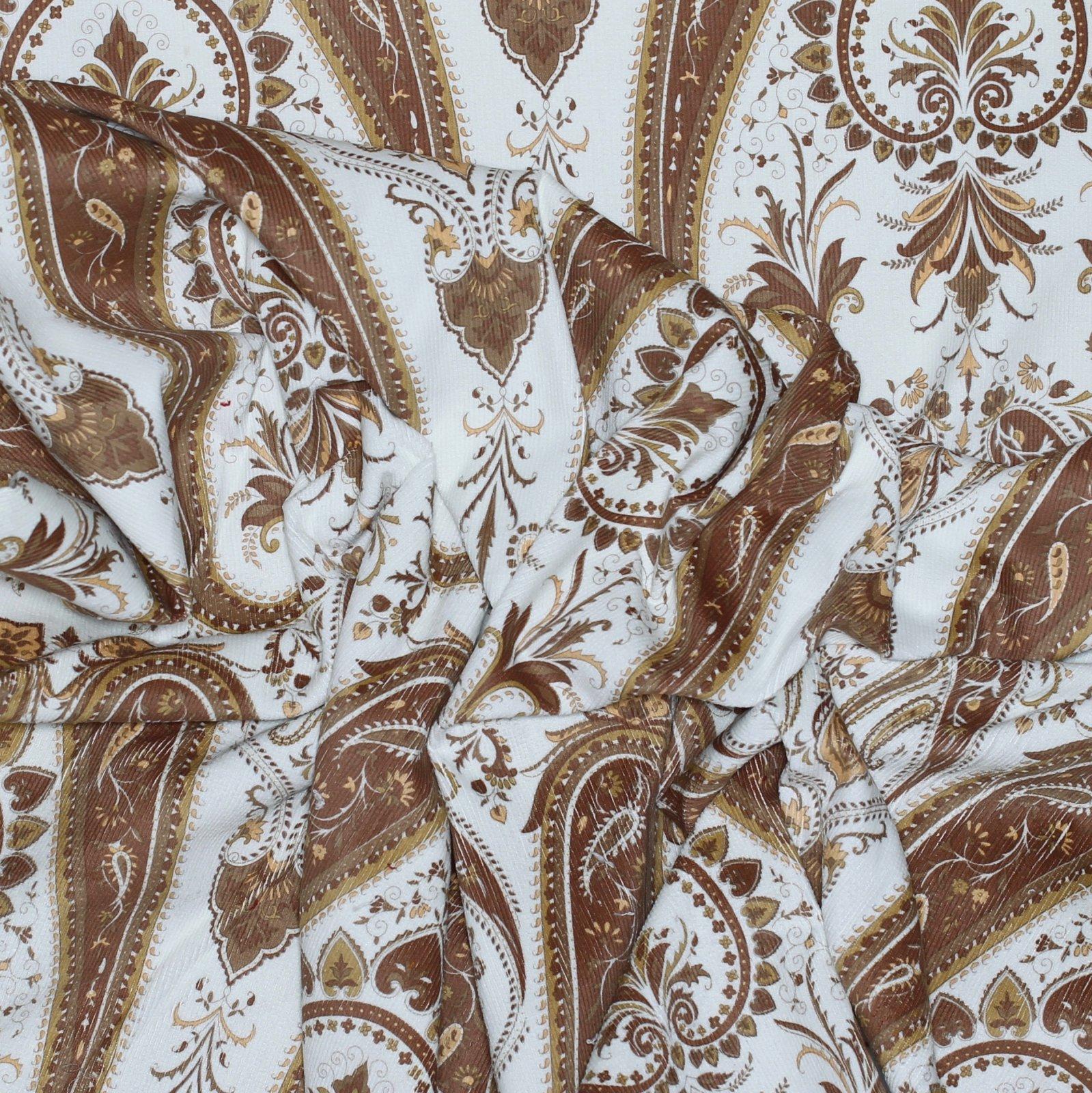 Ralph Lauren Cotton Stretch Cord Gold Print