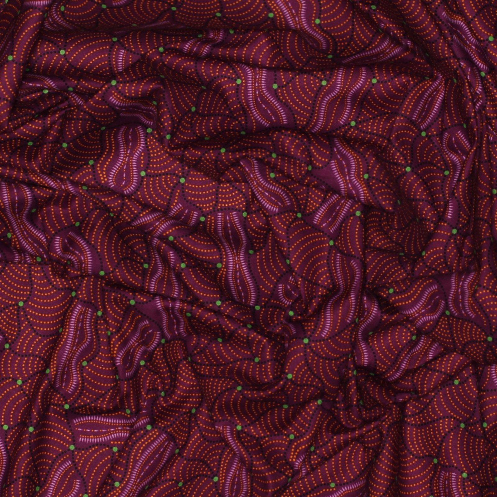 Wild Flower Dreaming 2 - Purple - Australian Aboriginal Textiles