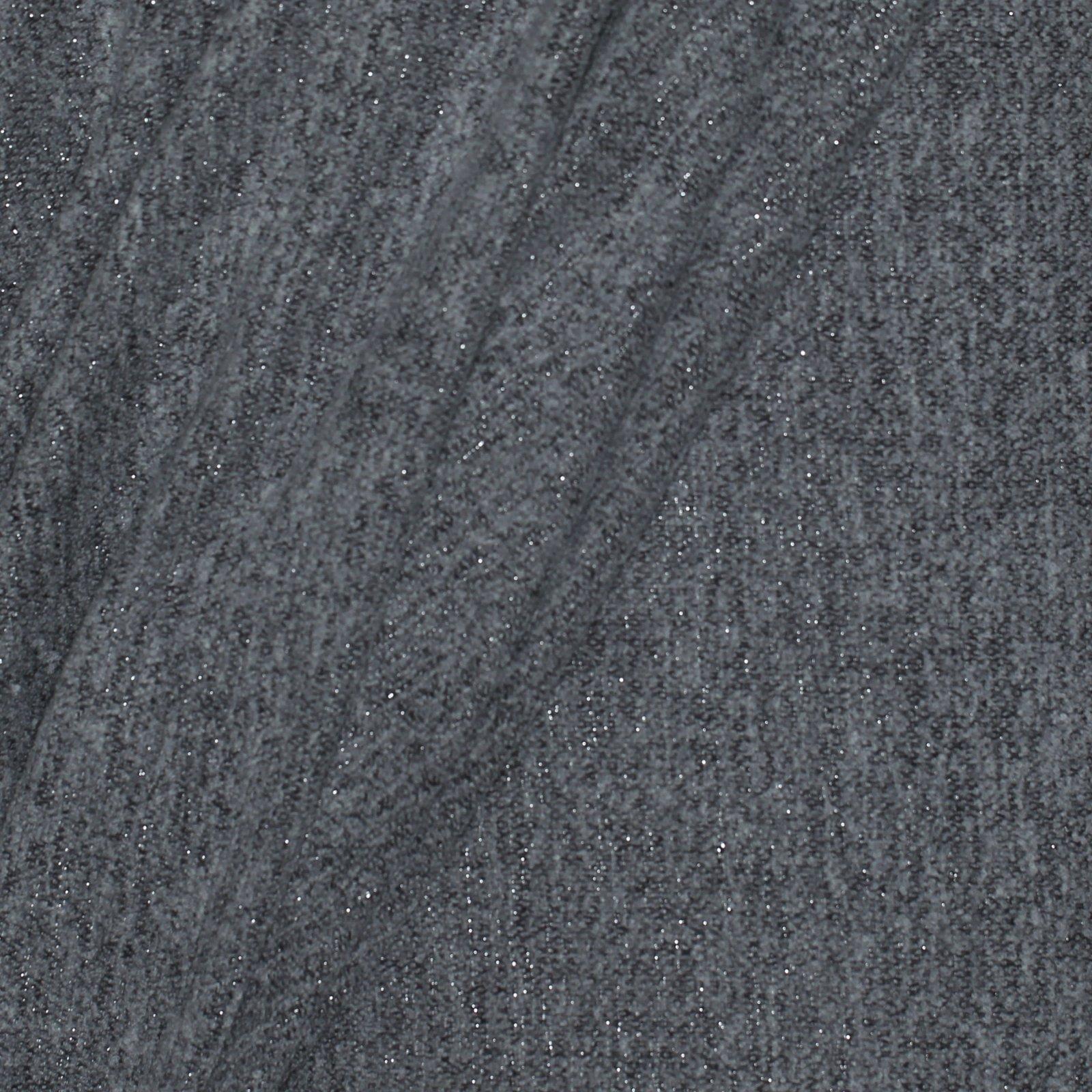 Grey Metallic Boucle Italian Wool Blend