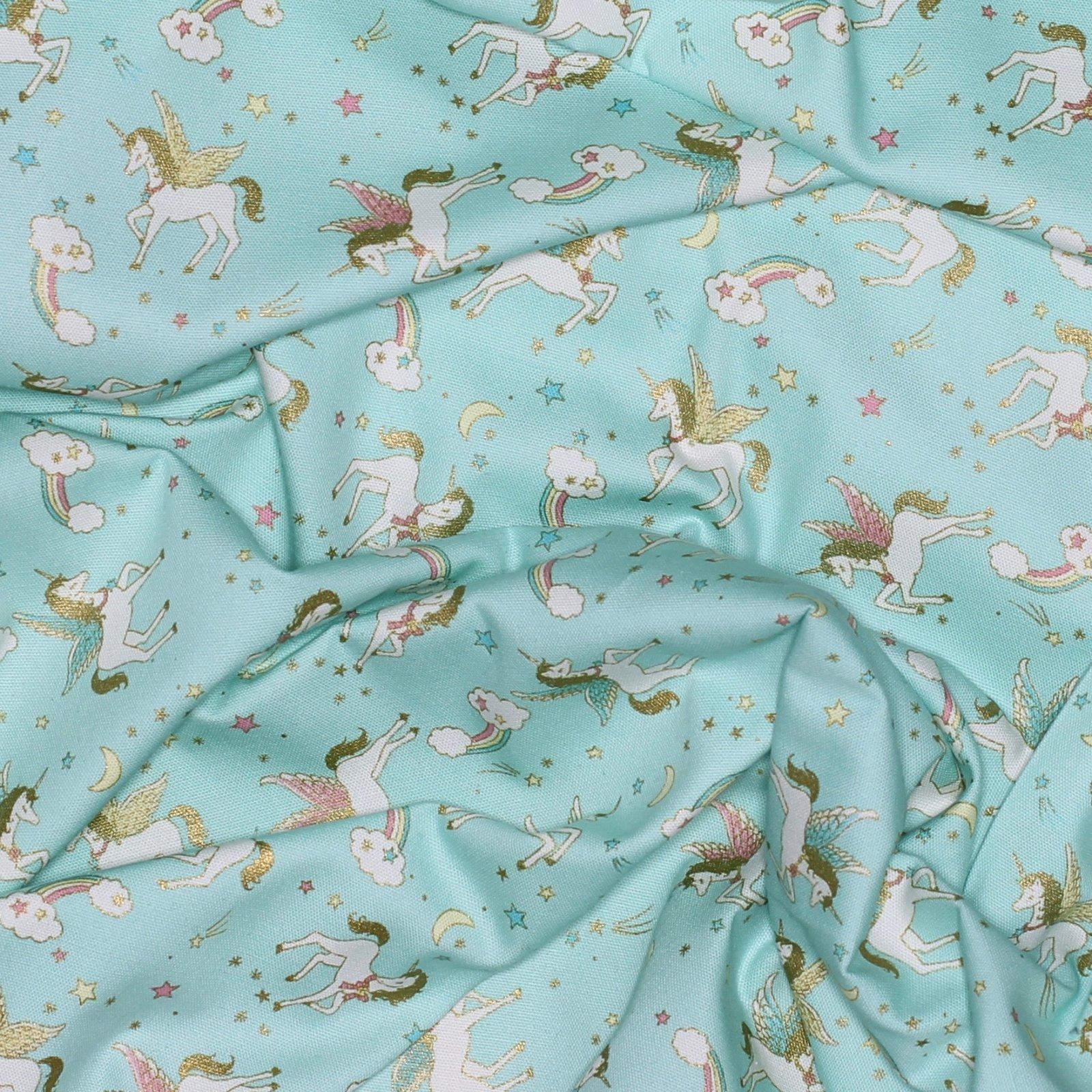 Kokka - Glitter Animal - Japanese Unicorn Cotton Oxford