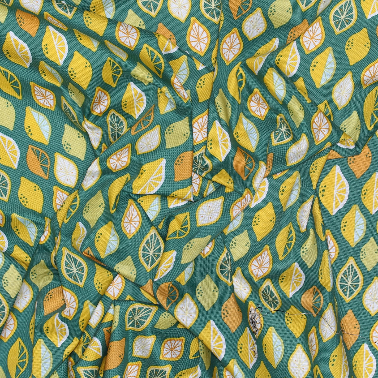 Monaluna Organic Fabric - Lemon-Lime Cotton Canvas