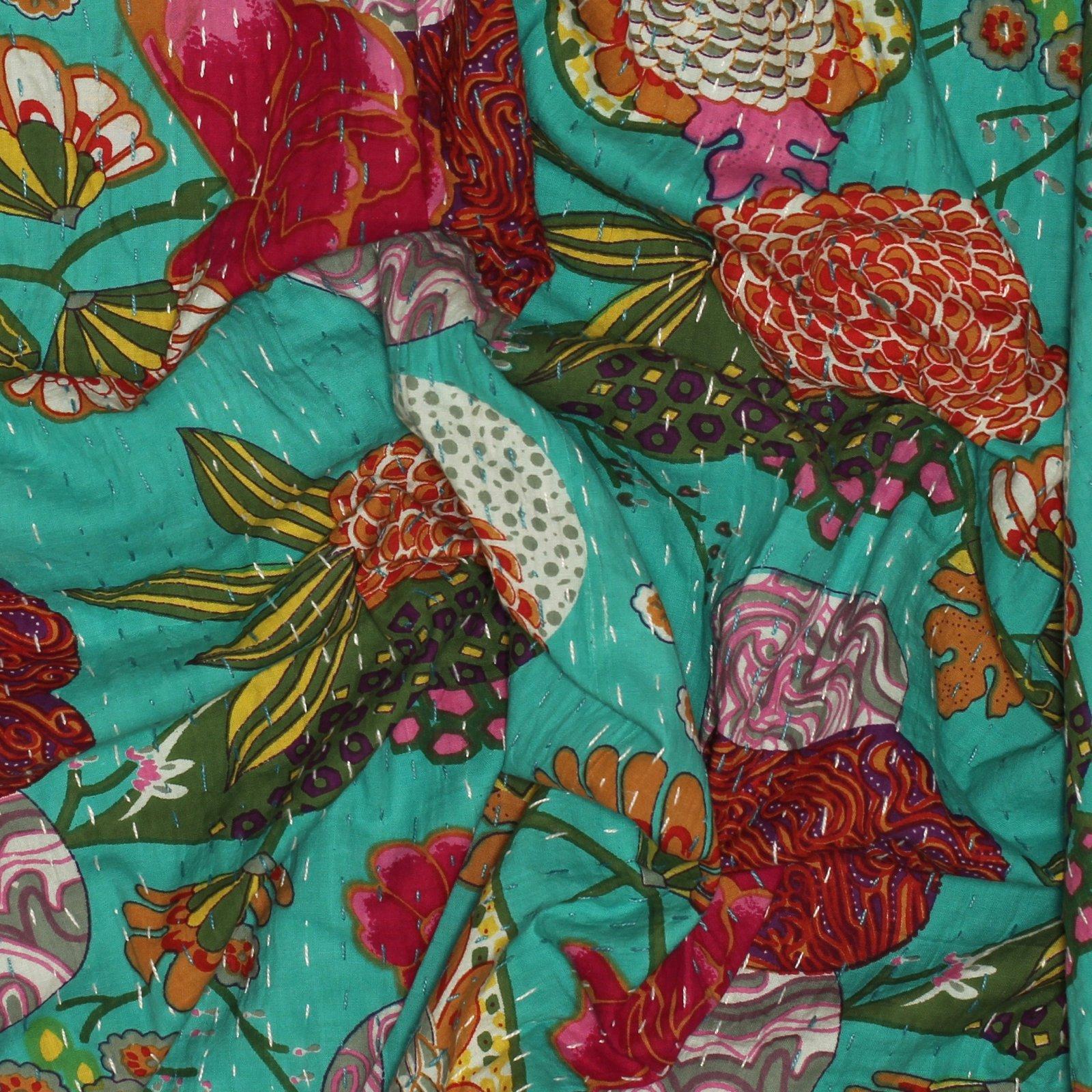 Sunny Season Handstitched Kantha Cloth