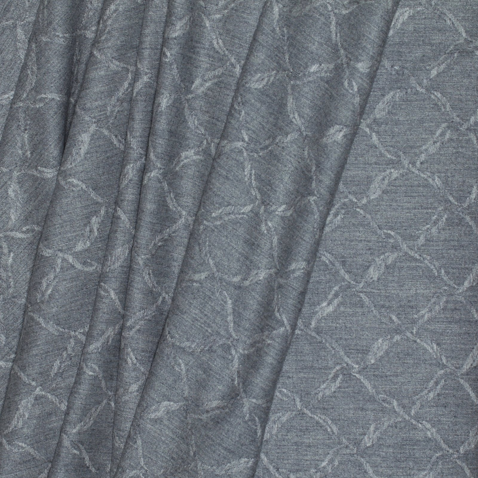 Heathered Grey w/Trupuntoesque Design Italian Wool/Ply Blend