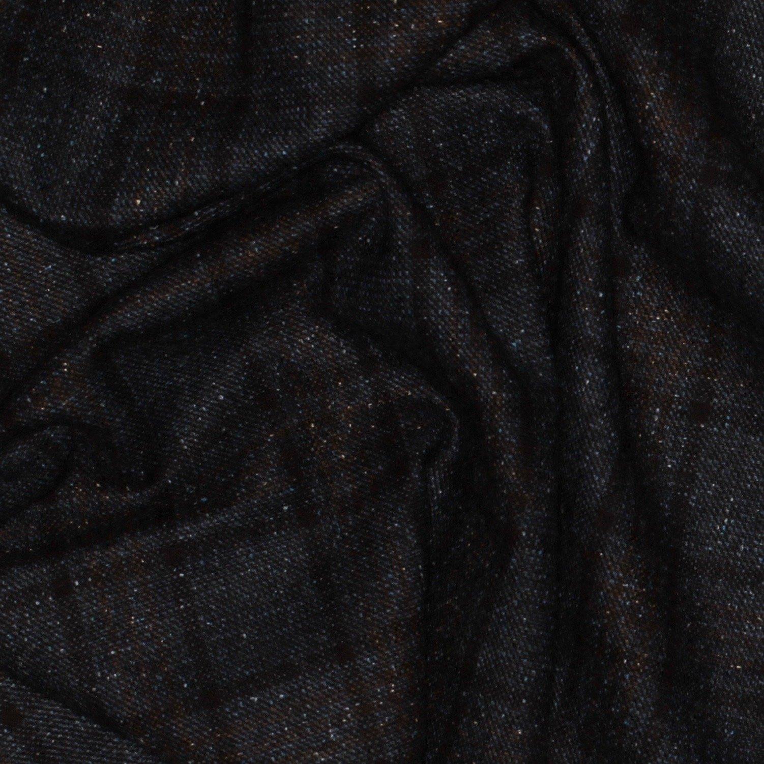 Blue/Black/Brown Plaid Italian Wool/Silk; 60; 77 Wool 23 Silk