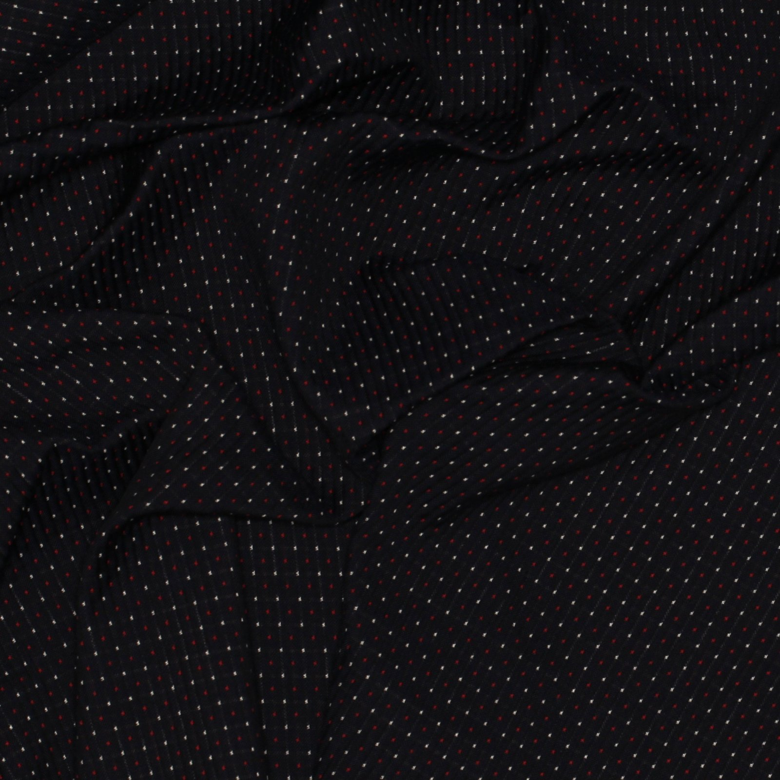 Navy/Red/White Rib w/Woven Dot/Check Reverse Italian Cotton; 60