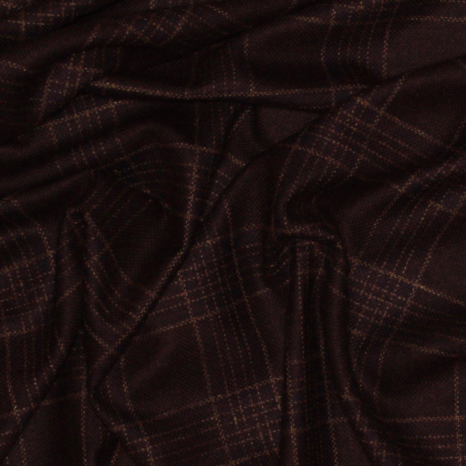 Burgundy/Plum Box Plaid Italian Wool/Silk Blend; 60