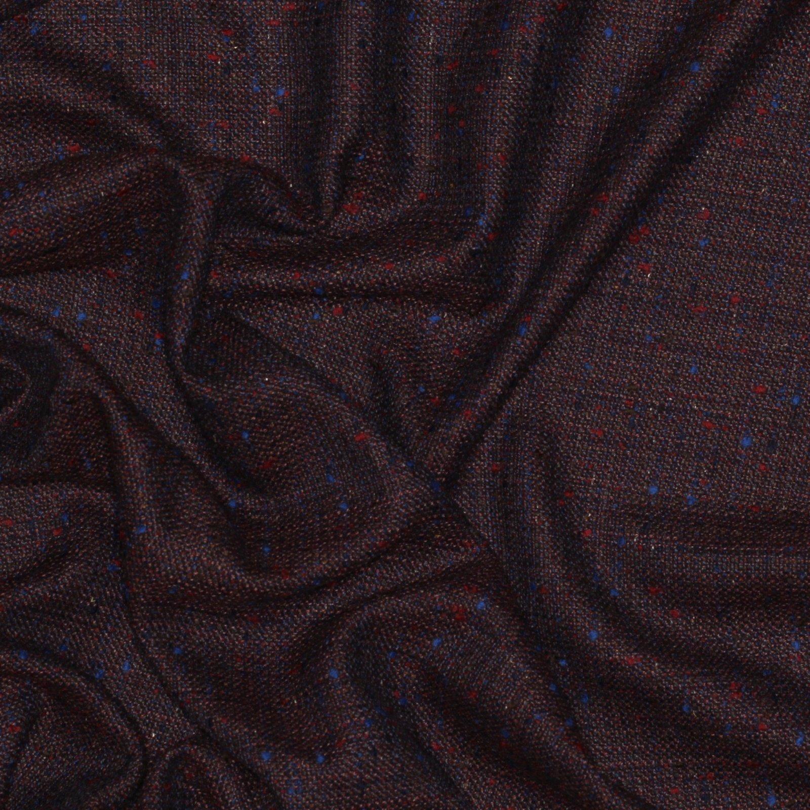 Red/Blue Fleck Italian Wool/Silk Tweed; 60
