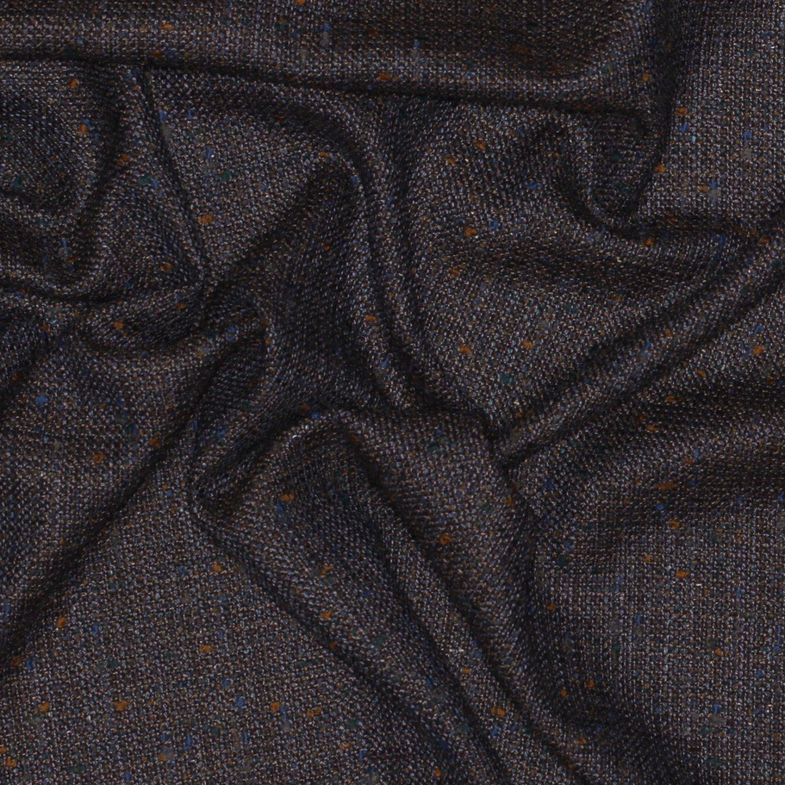 Blue/Teal/Mustard Fleck Italian Wool/Silk Tweed; 60