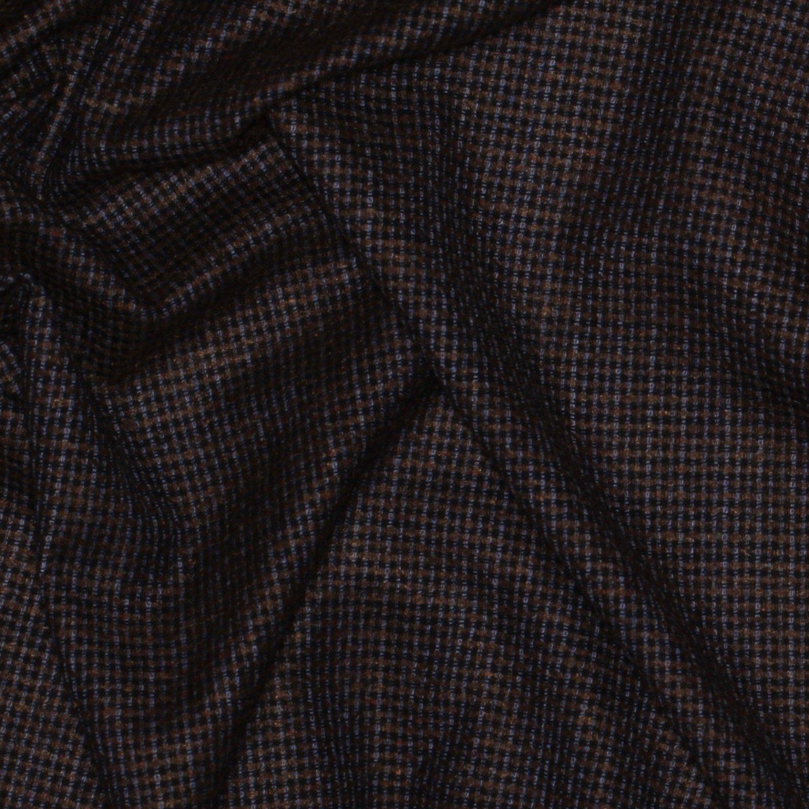 Brown/Blue/Periwinkle Italian Wool/Silk Tweed; 60