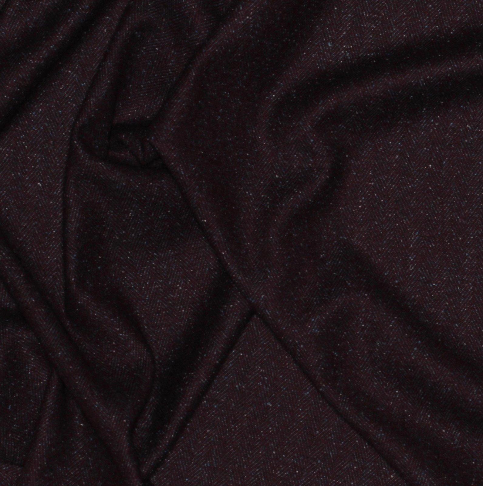 Plum/Denim Herringbone Italian Wool/Silk Tweed; 60