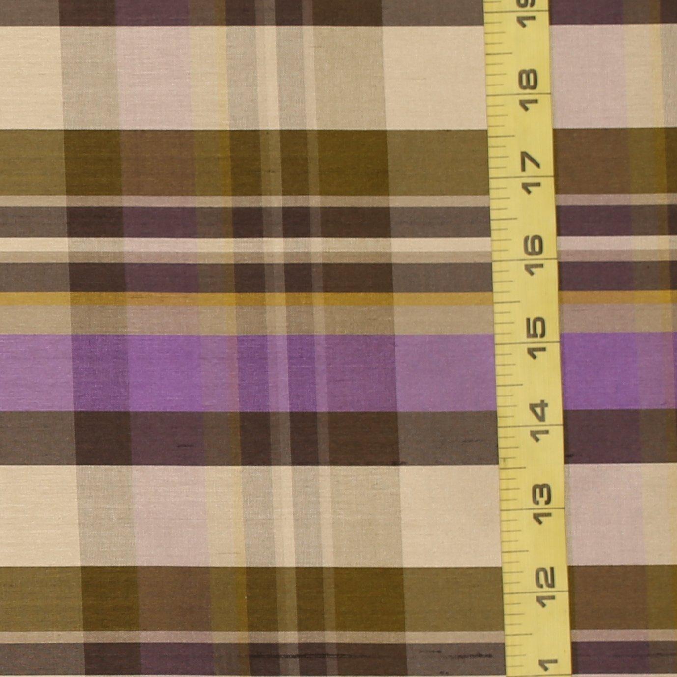 Anne Klein Purple Plaid Silk Dupioni