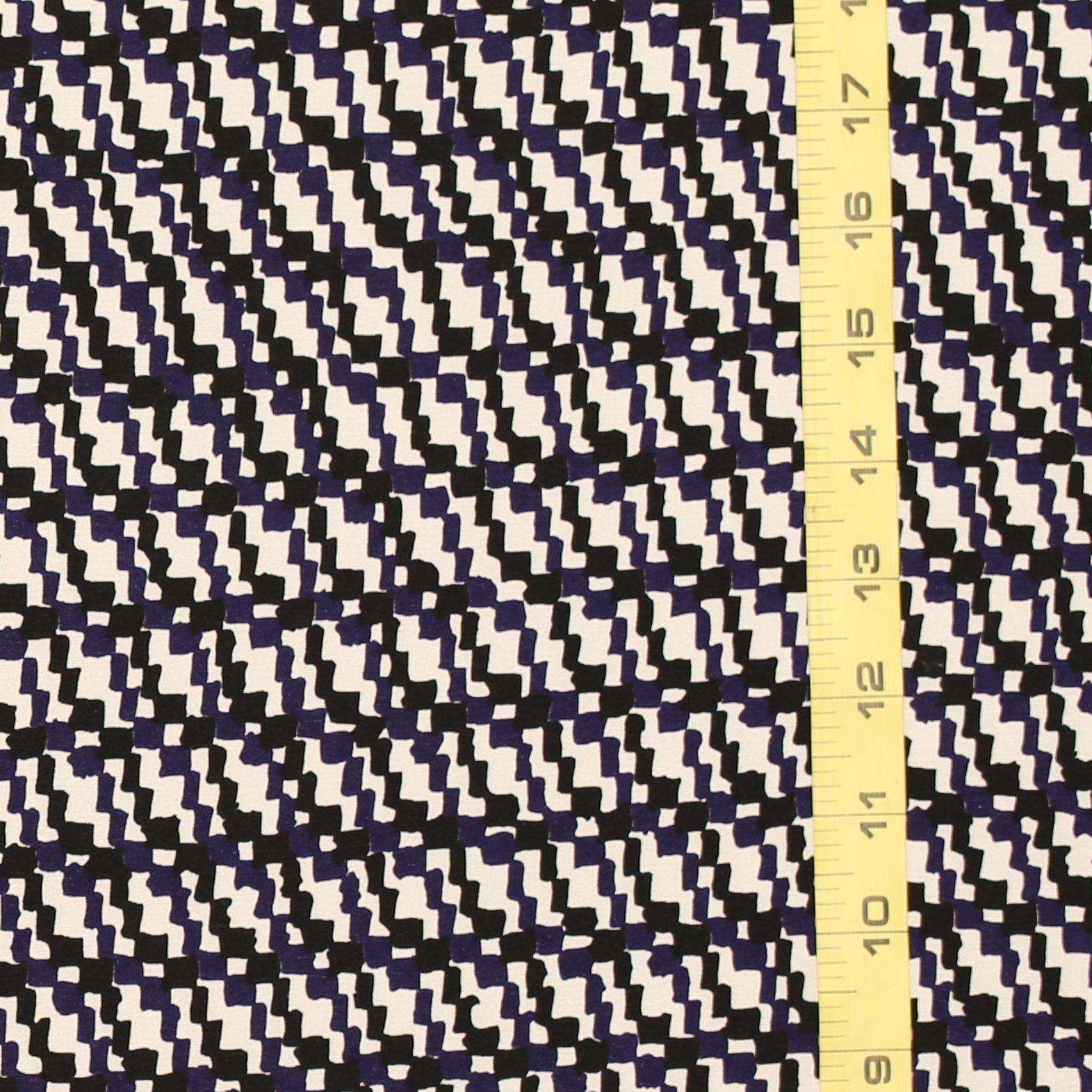 Derek Lam Black Blue & White Silk CDC with Stretch