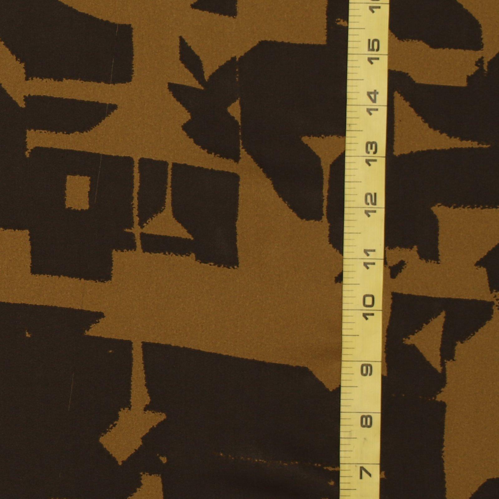 TAHARI Brown & Gold Abstract Silk