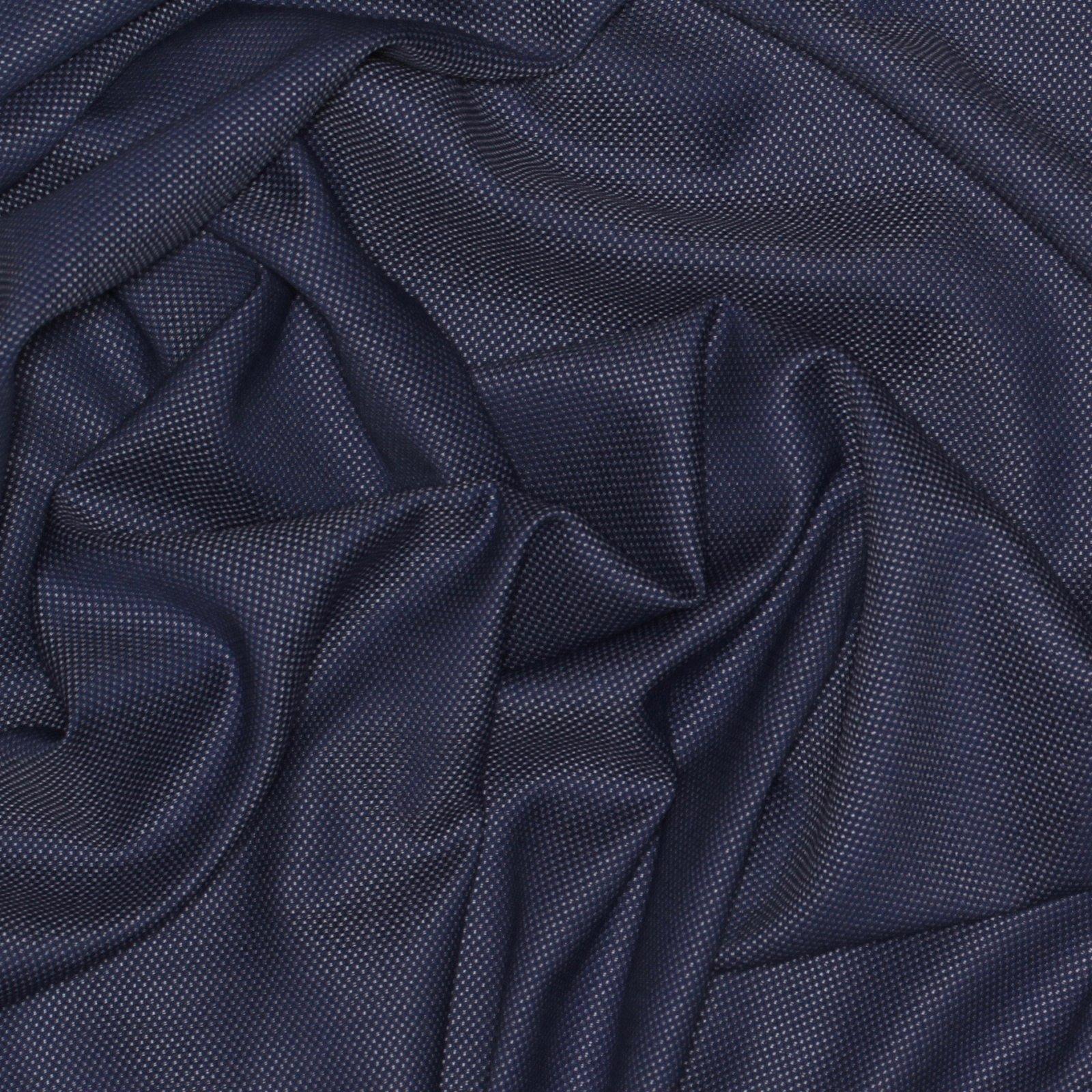 Blue Basketweave Italian Wool; 60