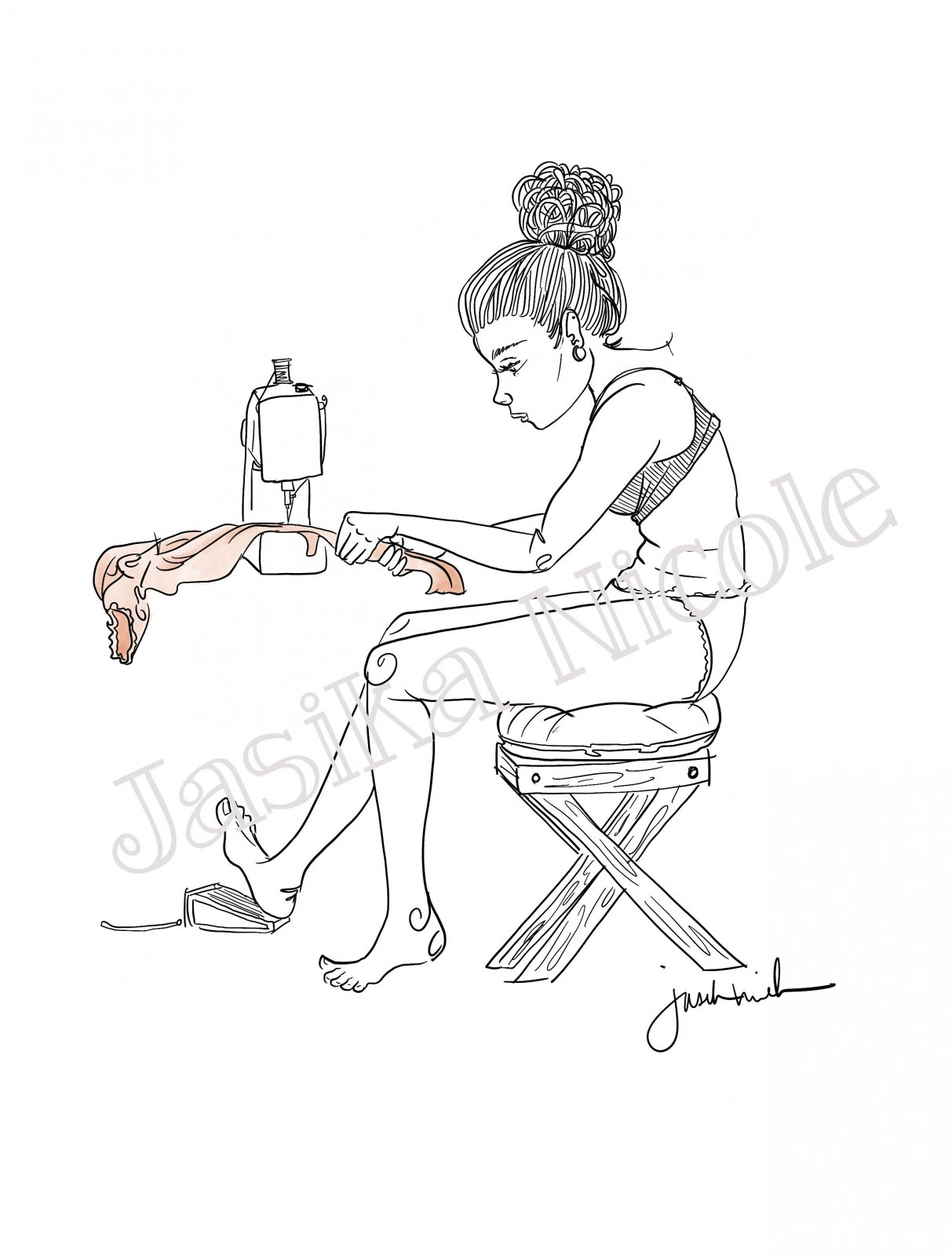 Machine Dream Illustration by Jasika Nicole; 11x17