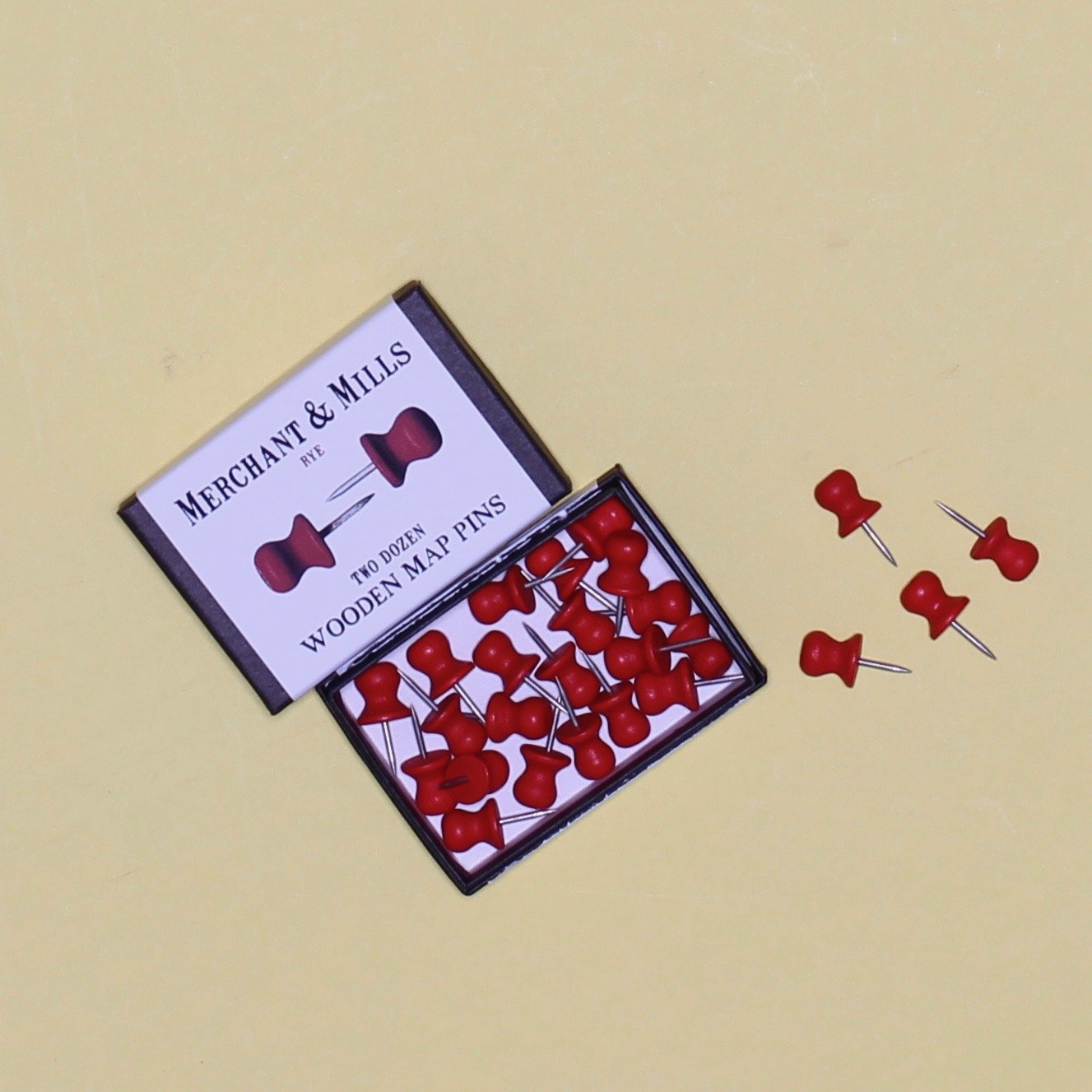 Merchant Mills Wooden Map Pins