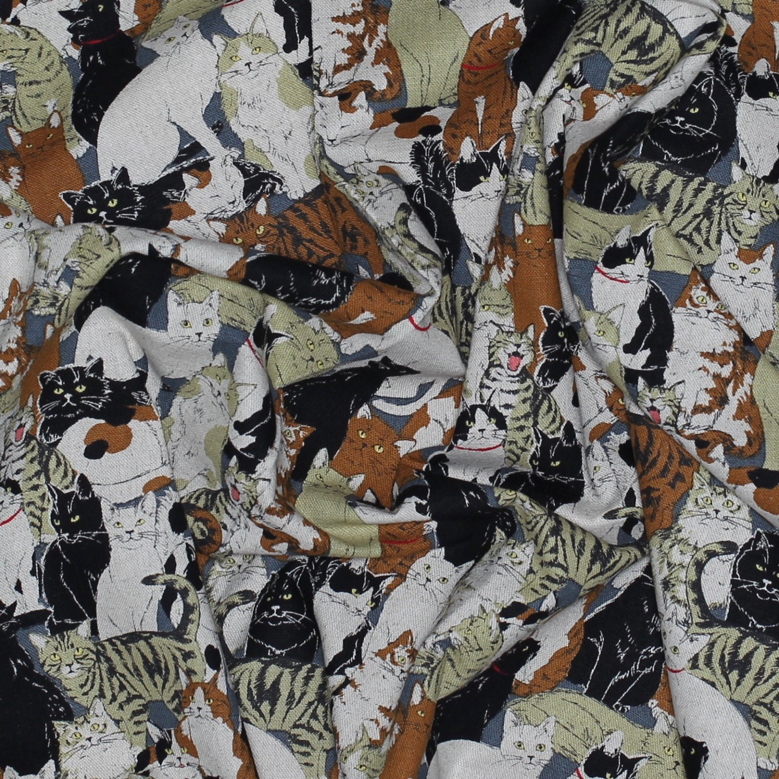 Cosmo - More Cats - Japanese Cotton/Linen Canvas