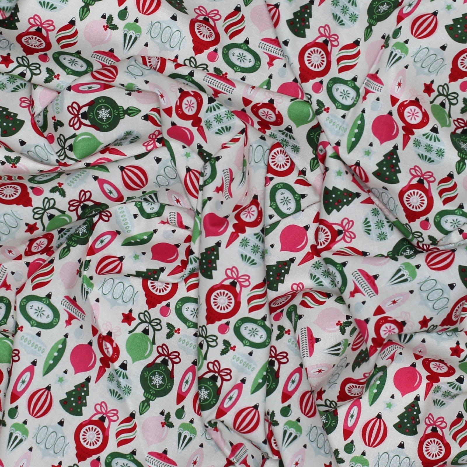 Merry And Bright Ornaments - Cream