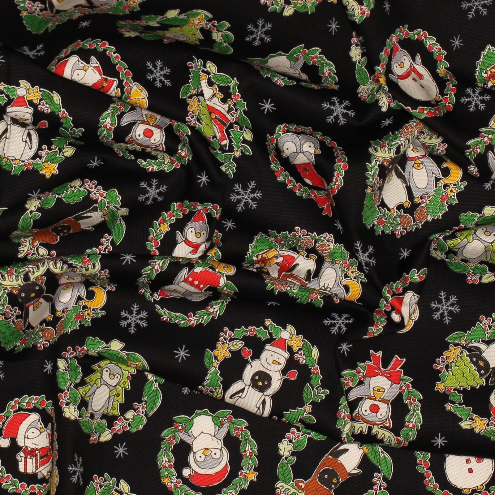 Penguin Christmas - Japanese Cotton Oxford