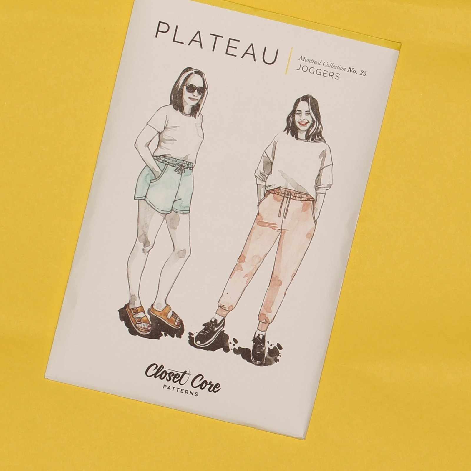 Closet Core Patterns - Plateau Joggers - Paper Pattern