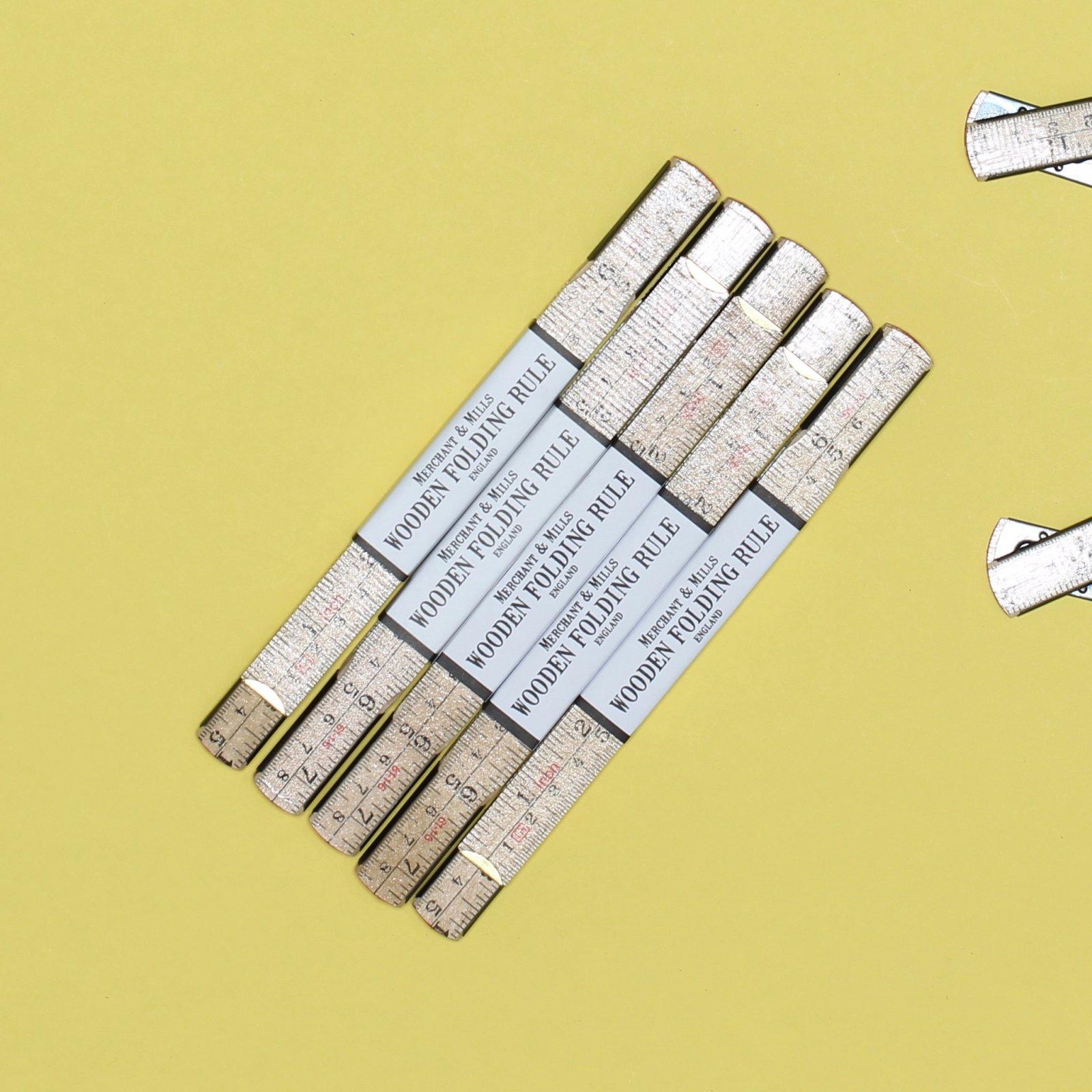 Merchant Mills Wooden Folding Ruler