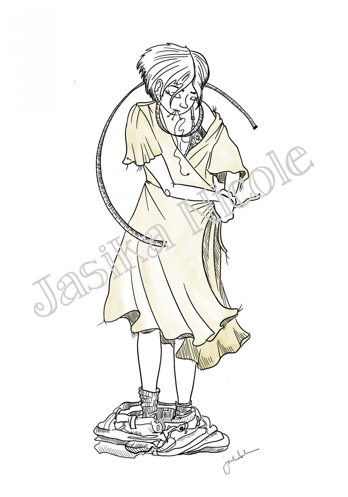 Sew Close Illustration by Jasika Nicole; 11x17