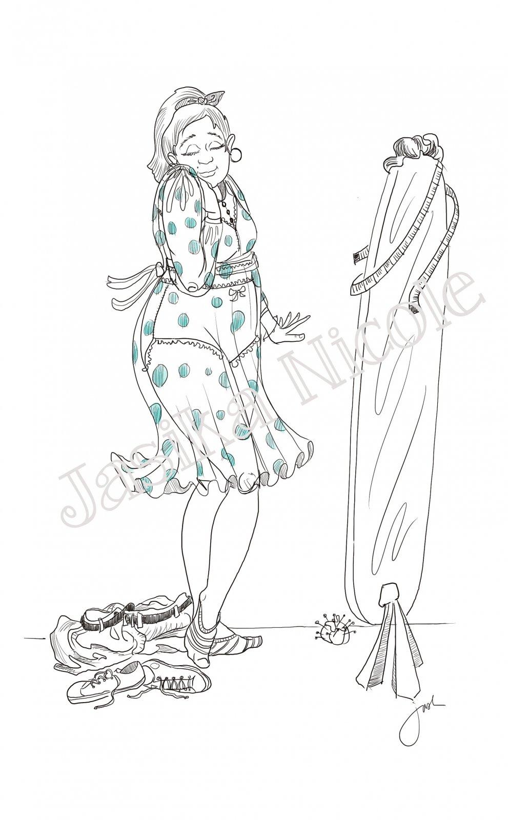 Sew Good Illustration by Jasika Nicole; 11x17