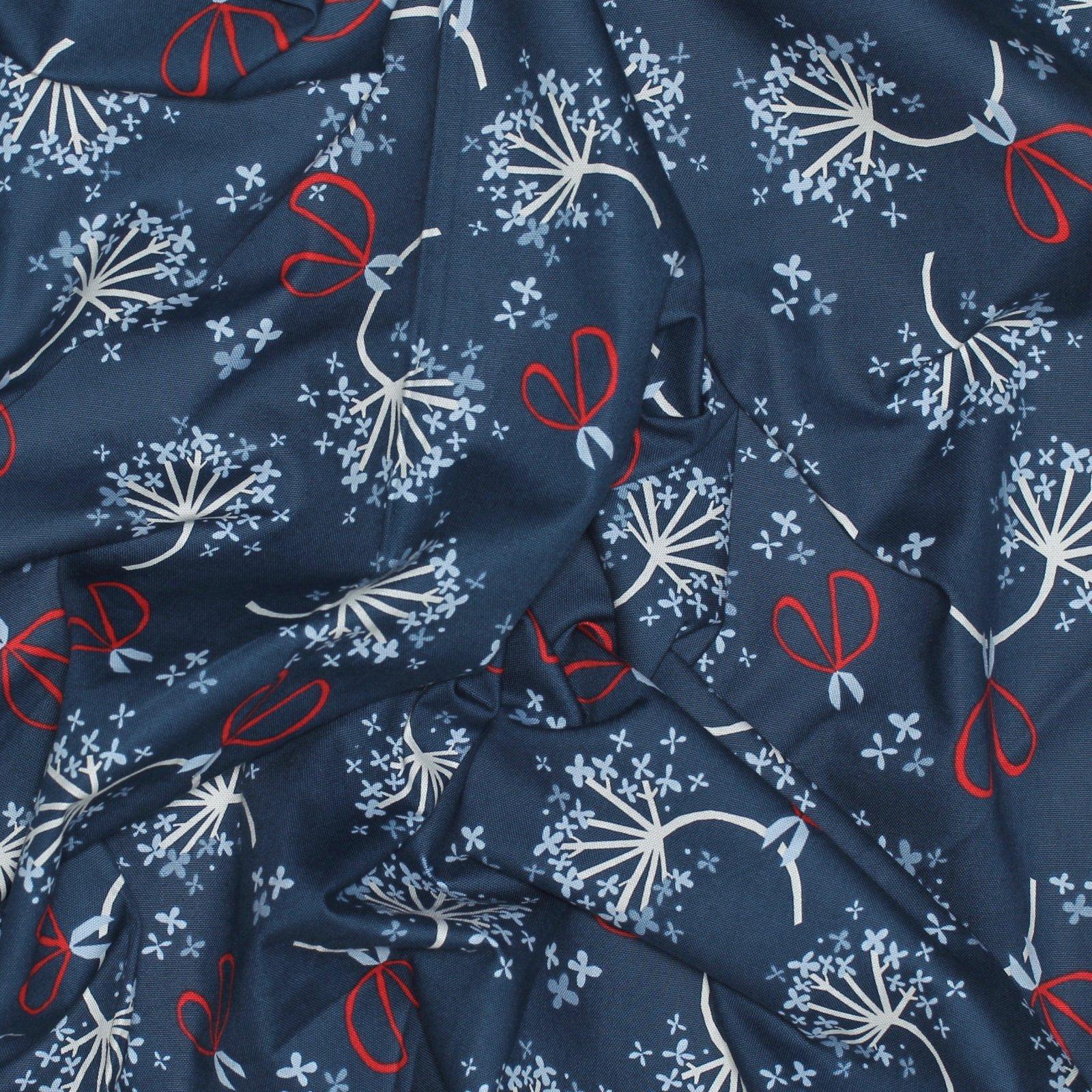 Monaluna Organic Fabric - Hydrangea Cotton Canvas