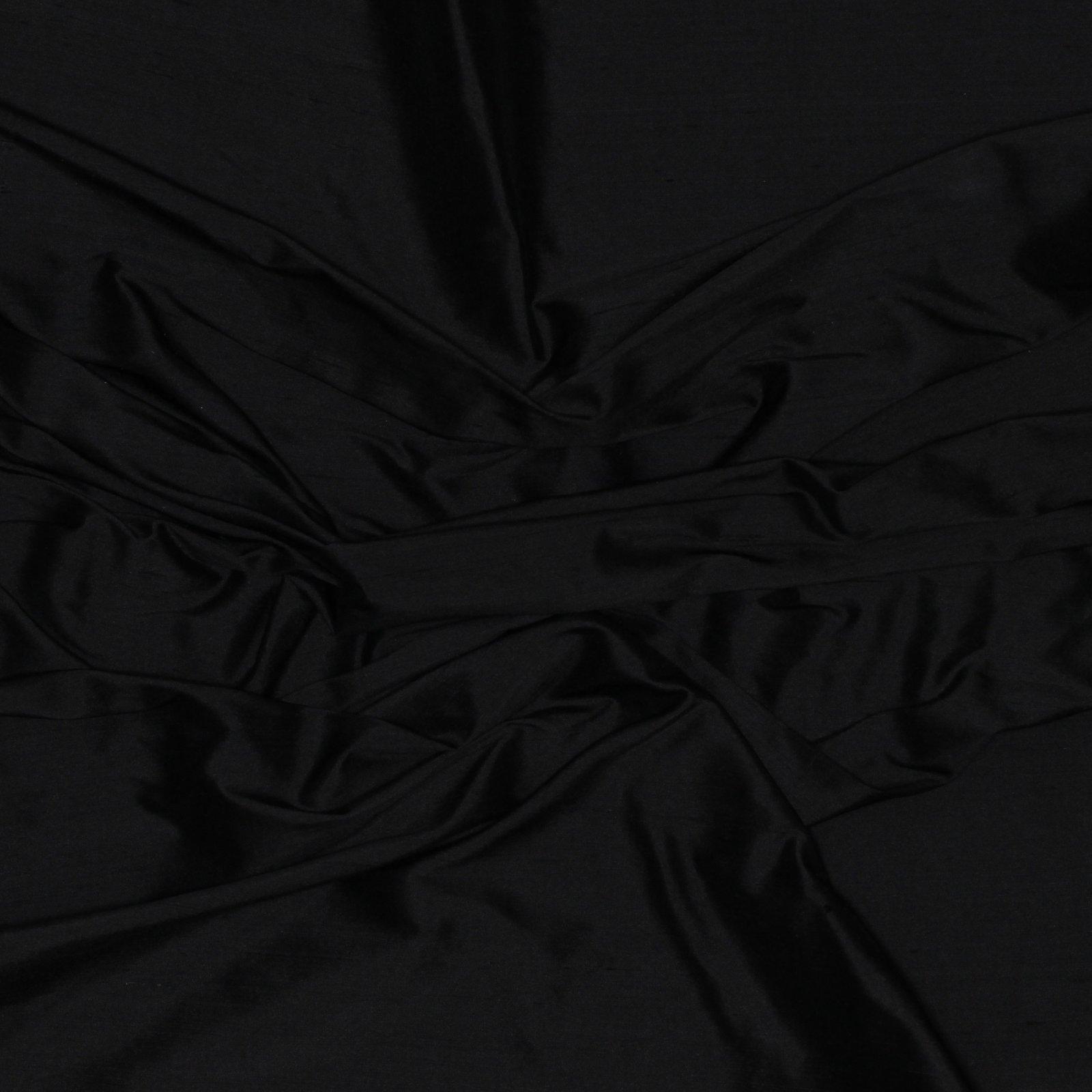 Black Dupioni Silk