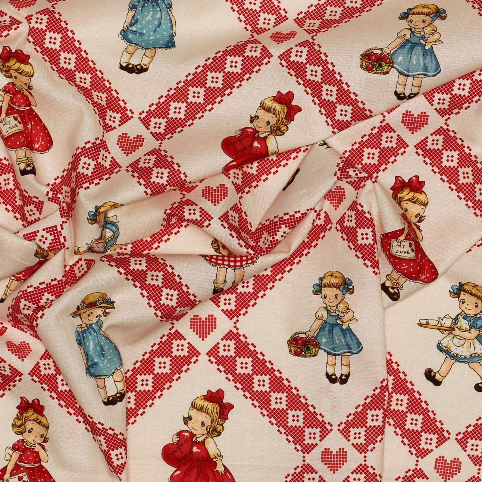 Margaret/Sophie Vintage Tiles - Japanese Cotton - Quilt Gate