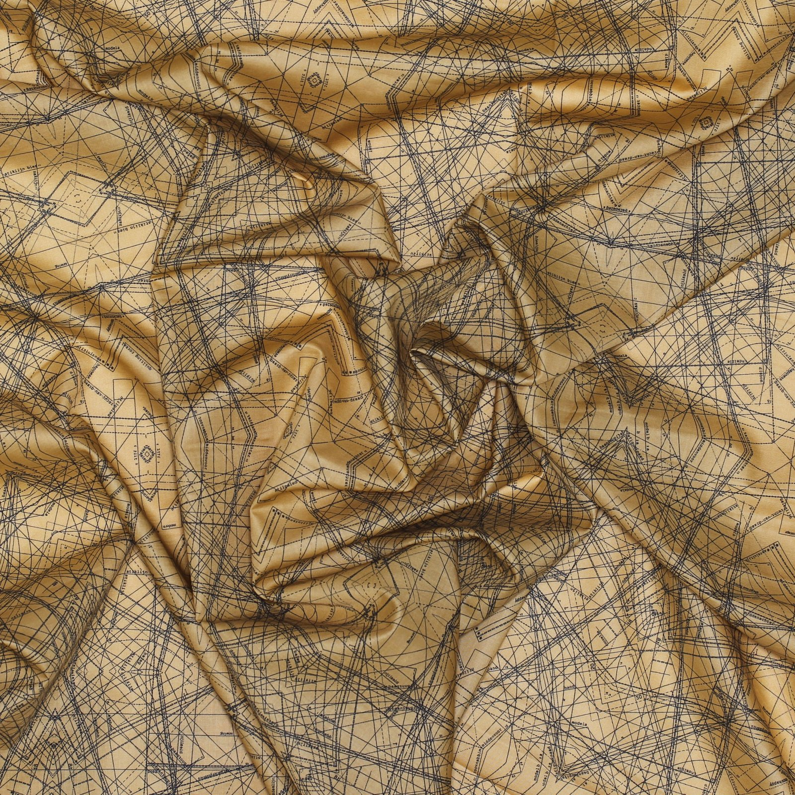 Spirodraft Ocre - Art Gallery Cotton Voile