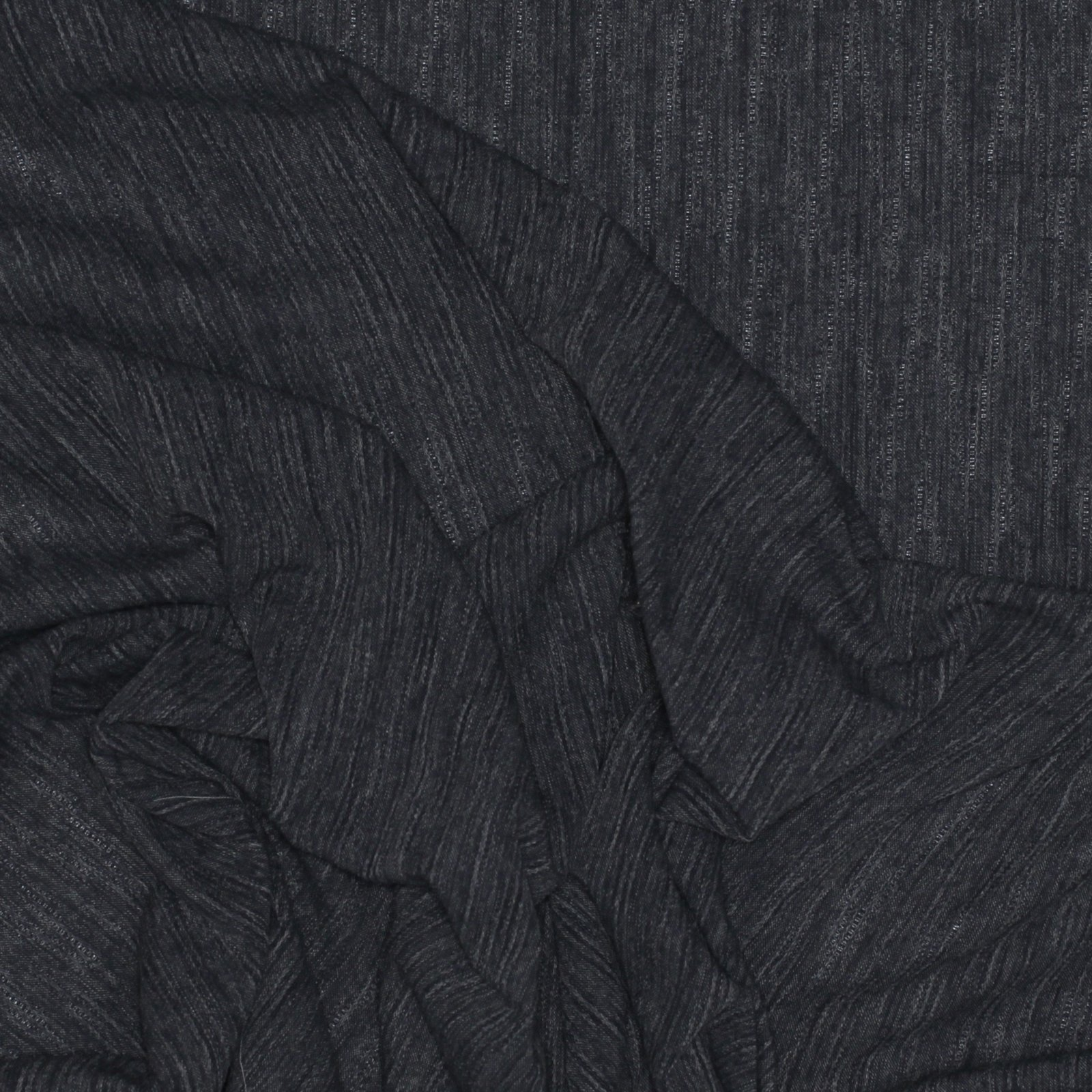 Yarn Dyed Textured Stripe - Charcoal Japanese Cotton