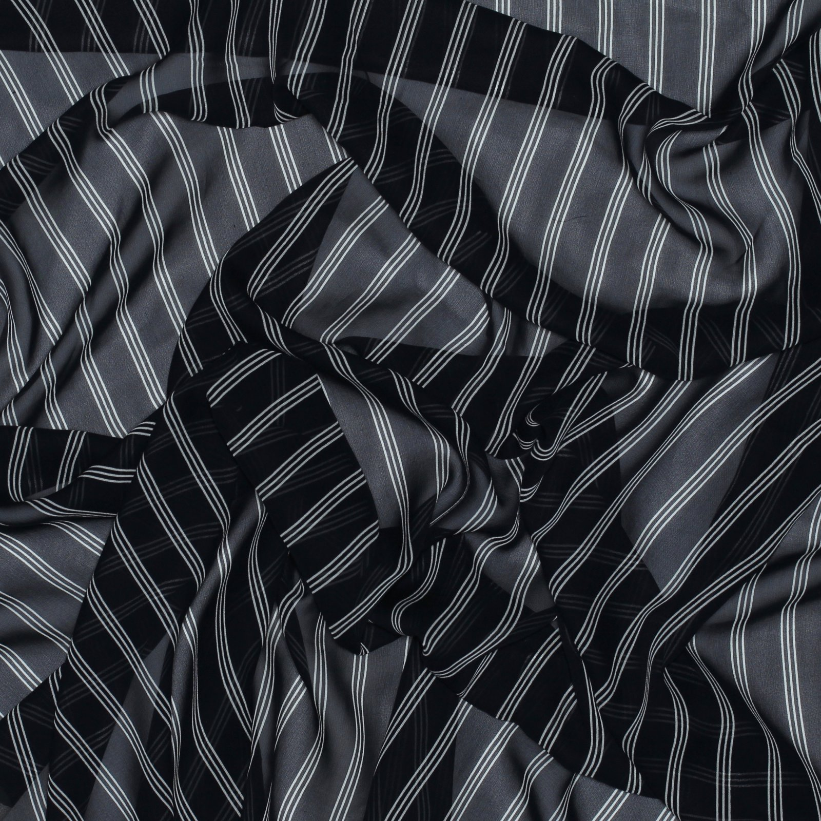 Navy w/White Stripe The0ry Silk