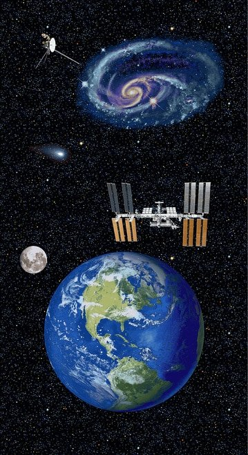 Planetary Missions  Earth Panel/Studio E Fabrics
