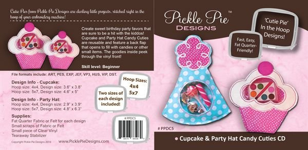 Cupcake & Party Hat Candy Cutie Emb