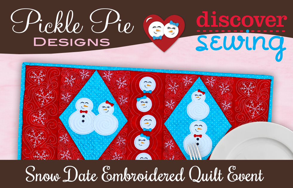 Kit for Pickle Pie Snow Date Table Runner