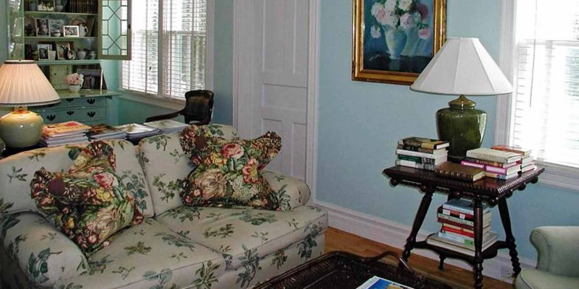 Family Room with Floral Couch