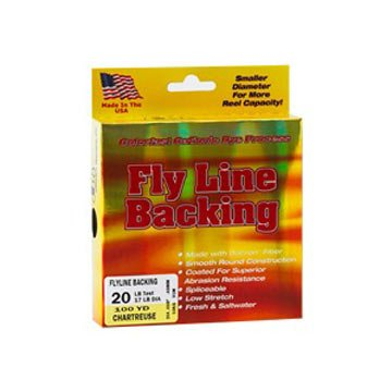 Western Filament Fly Line Backing, 100 yds. 20 lb., braided dacron, Chartreuse
