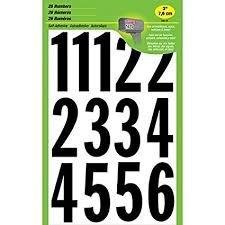 3 Self Adhesive Numbers