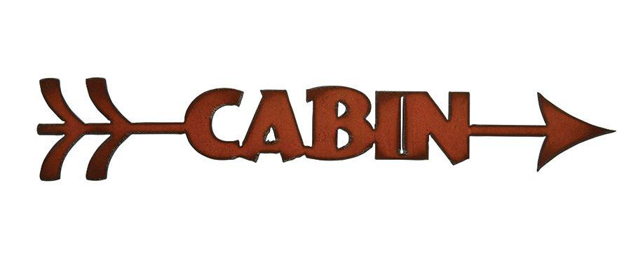 Arrow Cabin Metal Art